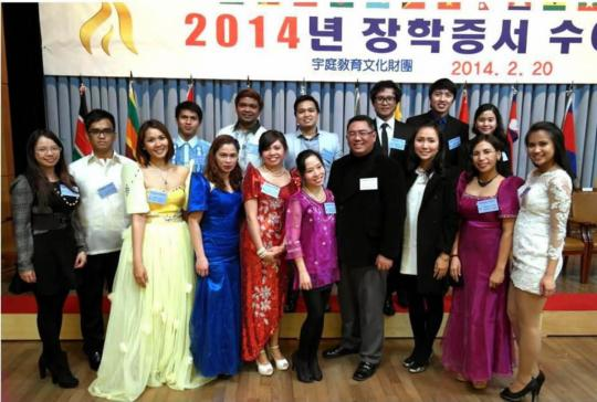 Woojung Awards Scholarships To 15 Filipino Graduate Students In South Korea