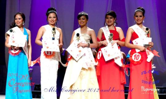 Fil-core Support Group Presents    2012 Miss Caregiver